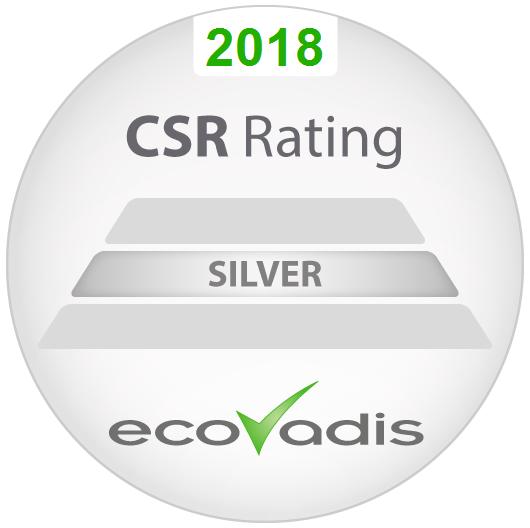 Logo Ecovadis - Aviti a obtenu le label Ecovadis Silver au titre de notre bilan RSE 2017